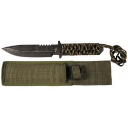Fiksuotas peilis su Paracord rankena