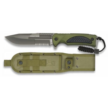 RUI Green taktinis peilis su dėklu