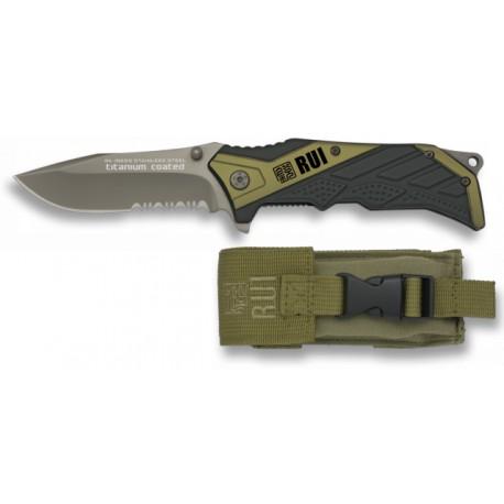 RUI taktinis kišeninis peilis su dėklu, 9.6 cm