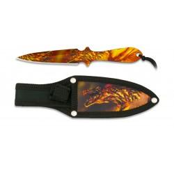 ALBAINOX 3D Dragon svaidymo peilis su dėklu