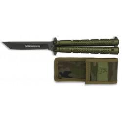 K25 ABANICO taktinis peilis-peteliškė, ŽALIAS