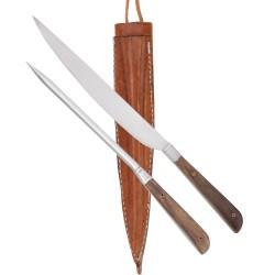 HALLER stalo įrankiai su odiniu dėklu