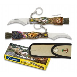 ALBAINOX SETERA 3D grybautojų peilis su šepetėliu