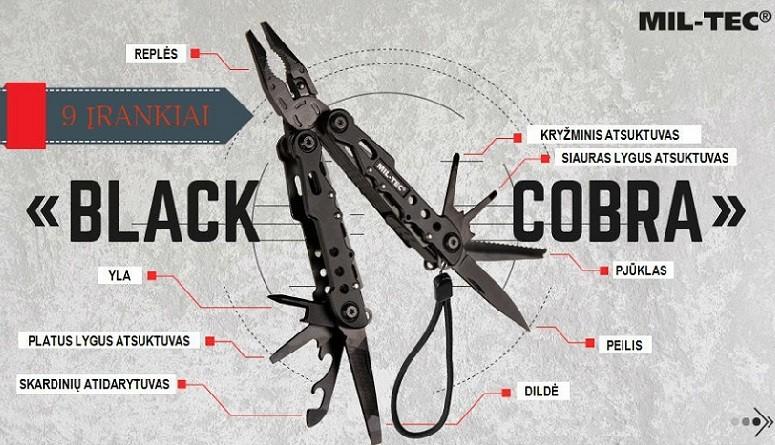 Daugiafunkcinis įrankis BLACK COBRA